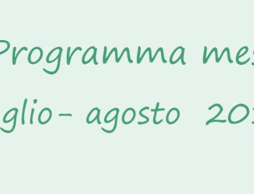 Programma dei mesi di luglio – agosto 2017