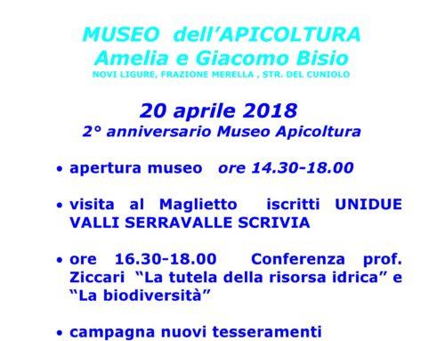 20 aprile 2018 – secondo anniversario Museo Apicoltura