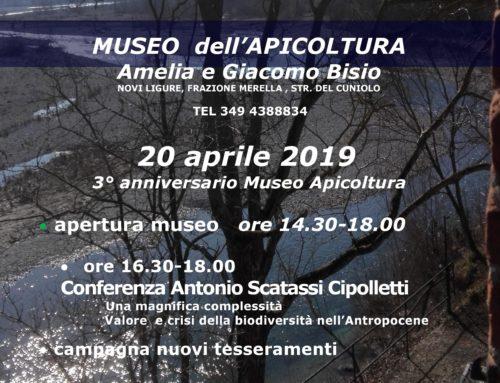 20 aprile 2019 – 3° anniversario Museo Apicoltura